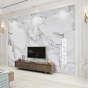 壁の壁画 3D壁画壁紙白大理石パターン壁紙リビングルームテレビソファ寝室テーマホテルモダンな装飾フレスコ画-200X140Cm
