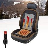 Walser 16590 Beheizbare Sitzauflage, Autositzauflage Warm UP mit Thermostat Heizbare Sitzkissen, Sitzheizung für Pkw, LKW, Kfz, Auto in Schwarz/Grau