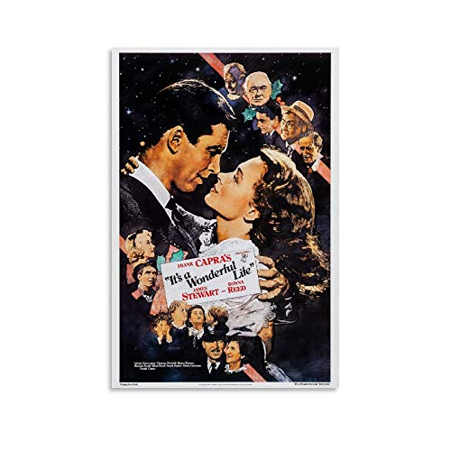 WSXDD Póster clásico de película It's A Wonderful Life, 3 lienzos para...