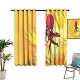 Cortina de dormitorio de 2 piezas, diseño de flores con estampado en D para baño, 132 x 213 cm