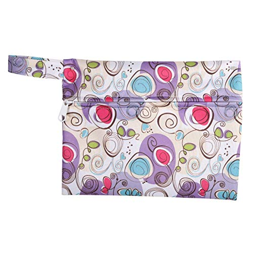 1 Pieza de Pañal de Tela Lavable Húmedo Seco con Cremallera Bolsa Impermeable para Toallas Sanitarias Menstruales (8)