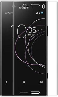 For Sony Xperia XZ1 Compact ガラスフィルム Sony エクスペリア XZ1 Compact SO-02K 専用 強化ガラスフィルム 業界最高硬度9H 高透過率99.9% 3Dラウンドエッジ加工 自動吸着 指紋防止 気...