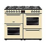 Belling Kensington 100DFT Range cooker Cuisinière à gaz A Crème - Fours et cuisinières (Cuisinière, Crème, Rotatif, Tactil, Devant, émail, Inférieur droit)