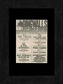 NME The Truth Diz & the Doormen Prince Hammer - Dingwalls 16th-23rd September 82 Framed Mini Poster - 22.8x17.7cm