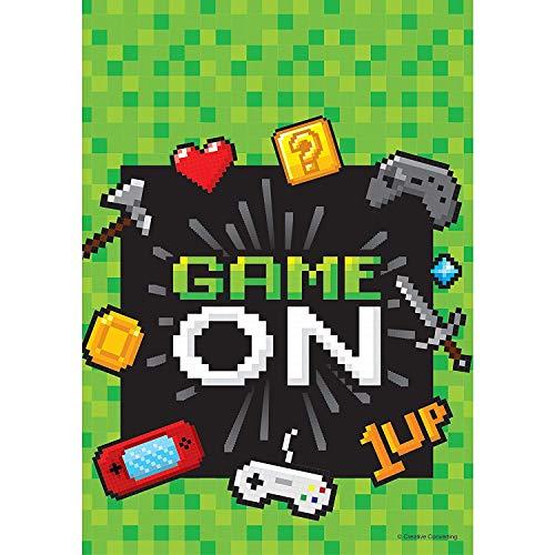 Neu: 8 Partytüten * Game ON * für Kindergeburtstag und Motto-Party | LAN Gaming Zocker Zocken Spielen Konsole Pixel Mottoparty Kinder Geburtstag Mitgebsel Geschenktüten Geschenke Tüten