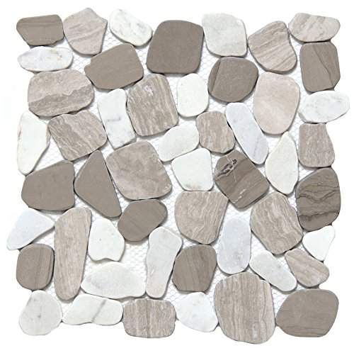 Emser Cultura Winter 11.81 inch x 11.81 inch Honed Stone Tile (10.0 sq. ft./case)