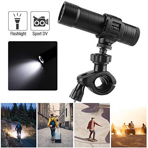 Actiecamera Sports Camcorder met LED-lamp fiets houder SOS-functie, 720P HD Sports DV camera video cam ondersteunt SD-kaart tot 64 GB, voor outdoor-sporten