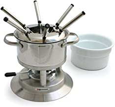 Silver All-Clad 59936 Stainless Steel Fondue Pot with Ceramic Insert Cookware
