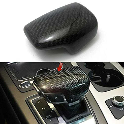 Cuque Gear Shift Knob Head Cover Manual Shifter Knob Sticker Trim Protector Carbon Fiber Style Black for S6 2013 S7 2013 A4 2013-2016 A5 2012-2015 A5 2012-2016 A6 2012-2016 A7 2009-2014 Q5 2013-2016