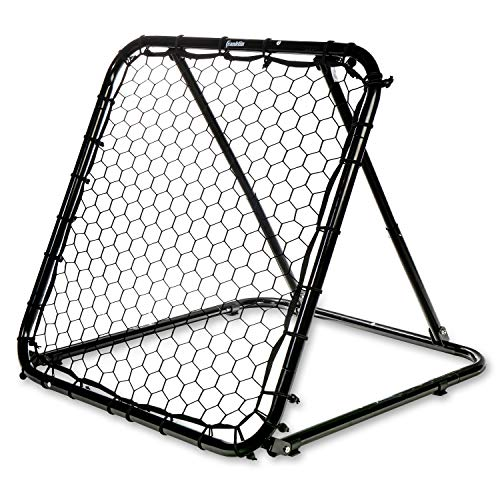 Franklin Sports Basketball Pass Back Rebounder Net - Multi-Sport Training Rebound Screen - Perfect for Passing and Shooting Practice - 3' x 3', Black (92499X)