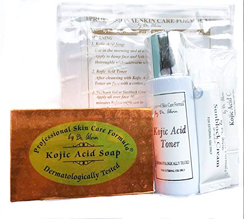 Authentic Dr. Alvin Kojic Acid Facial Set - Whitening - Anti Acne & Rejuvenating