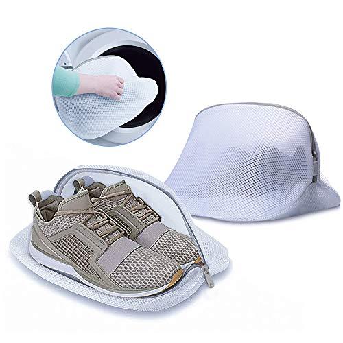 2 Stück Wäschenetz für Schuh - Wäschebeutel Schuhbeutel, Waschmaschine Wäschesack Wäschebeutel für Reise, Wäsche Netz Schuhnetz mit Reißverschluss für bh Sneaker