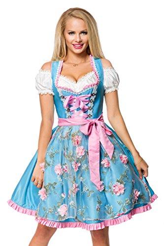 Dirndline - Vestido Dirndl - Cóctel - para Mujer Azul XXL