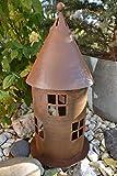 Maison en France Lichterhaus 40 cm groß-Laterne für drinnen und draussen - modernes Windlichtaus...