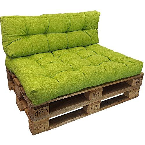 DILUMA | Palettenkissen Comfort Sitzkissen 120x80 cm Apfelgrün | Für Indoor/Outdoor, Wasserabweisend