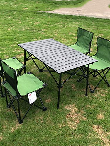 Outdoor Aluminium Folding tafel en stoel Set Multi-Person Folding tafel en stoel Barbecue Camping Self-Driving Equipment Set van Stoelen