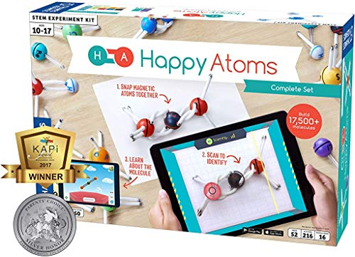 Thames & Kosmos Happy Atoms Magnetic Molecular Modeling Set and iOS App - Complete Set with 50 Atoms