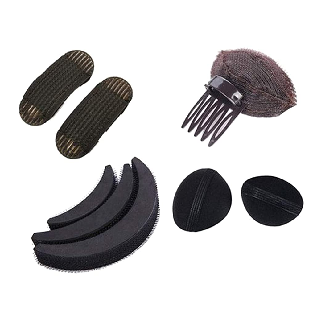 免除する概して代表団女性 ヘアスタイリングキット 髪型作成 ヘアスタイルツール 美容室サロン ブラック 4種類 - B