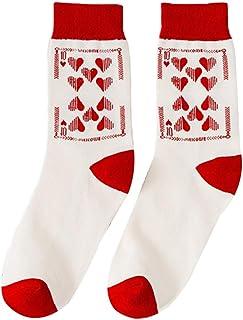 liaobeiotry, Calcetines redondos de algodón para mujer, diseño de corazones, para todas las estaciones, Navidad, Halloween