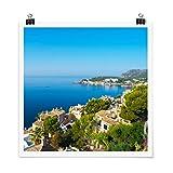 Bilderwelten Poster Cala Fornells in Mallorca Quadrat,