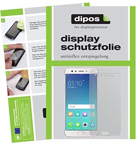 dipos I 2X Schutzfolie matt kompatibel mit Oppo F3 Plus Folie Bildschirmschutzfolie