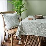 JDHANNE - Mantel rectangular antimanchas para mesa de jardín (135 x 240 cm)