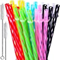 28-Pieces Kkmo 9 Inch Long Reusable Clear Transparent Straws
