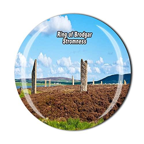 Anillo de Brodgar Stromness Escocia Gran Bretaña Imán de recuerdo de regalo magnético de recuerdo Colección de pegatinas