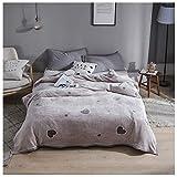 Manta Sofá suave para adultos de invierno Manta adecuada para sofás y camas, Manta antiarrugas, anti desvanecimiento y tratamiento de ansiedad 150 * 200 cm