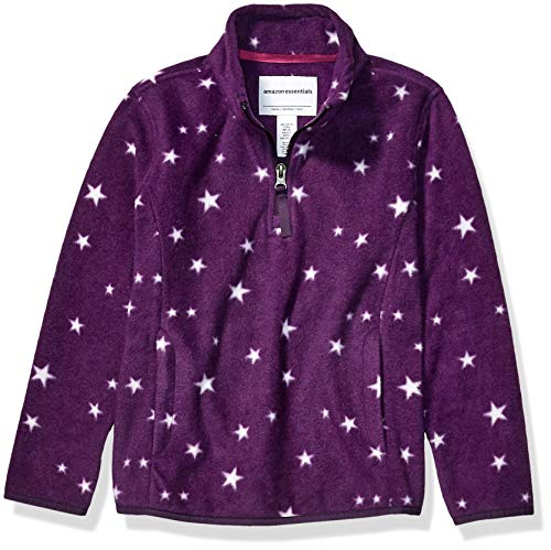 Amazon Essentials Quarter-Zip Polar fleece-outerwear-jackets, Purple Star, Large
