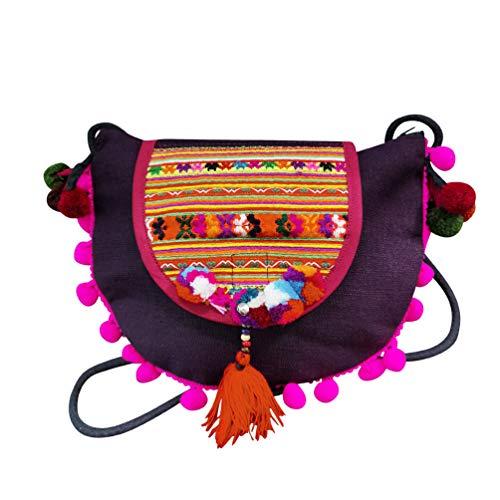 Interact China Bolso Bandolera Para Mujer Saddle Bag Estilo Hippie Bolso Tribal Hmong Miao 100% Bordado A Mano 112