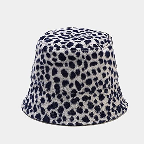 Sombrero Pescador Gorras Hombre Mujer Moda Mujer Manchas Patrn Sombreros De Cubo Sombrero De Panam Plegable Gorras De Pescador para Hombres Mujeres Gorras-Navy_54-58Cm