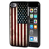 iPod Touch 6 case,AIRWEE Slim Back Cover Hard Plastic Protector Case Stylish Design for Apple iPod Touch 6th Generation - American Flag
