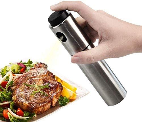 Aceite Pulverizador Botella Acero Inoxidable de Oliva Dispensador y Vinagre Cocina Grill Comida Aderezo Spray Calidad Alimentaria para Barbacoa Ensaladas Frituras