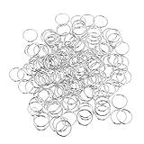 TOYANDONA 160pcs piccoli anelli aperti anelli a fogli mobili in metallo anelli per libro chiave artigianato carta di carta 15x16mm (argento)