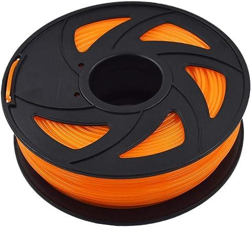 new arrival ABS 3D Printer outlet sale Filament - 2.20 lb (1KG) The discount Diameter of 3.00 mm, Dimensional Accuracy ABS Multiple Color (Transparent Orange) outlet sale