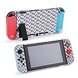 Carcasa protectora de fondo con delfines de Polygons compatible con Nintendo Switch Soft Slim Grip Cover Shell para consola y Joy-Con con protector de pantalla, puños de pulgar Design21581