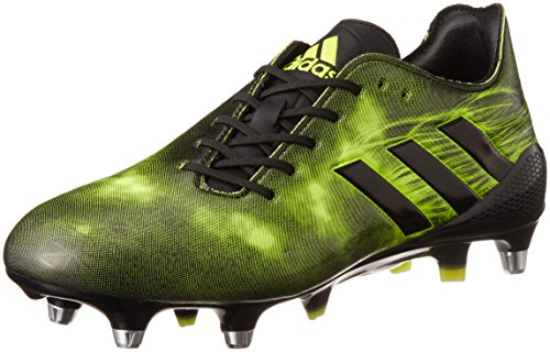 adidas Performance Mens Crazyquick Malice Soft Ground Rugby Boots Shoes - 9.5US Black