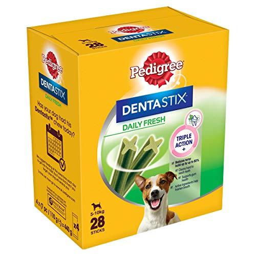 Mars Pedigree Dentastix Fresh - Friandises pour Petit Chien, 112 bâtonnets à mâcher pour l\'hygiène bucco-dentaire (16 sachets de 7 Sticks)
