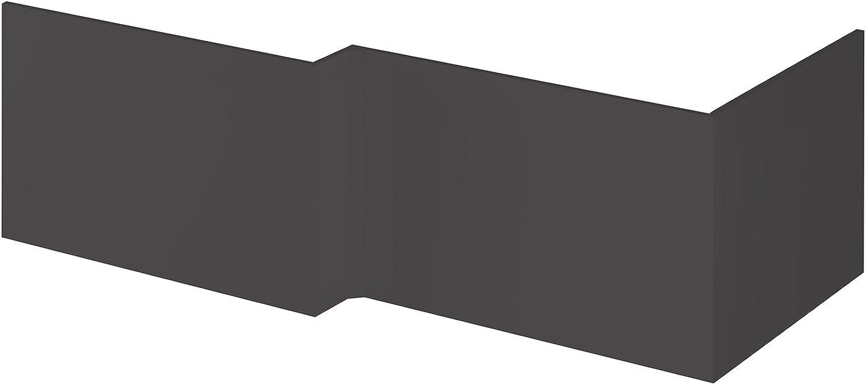Hudson Reed OFF973 Shower Front Bath Panels, Gloss Grey, 1700mm