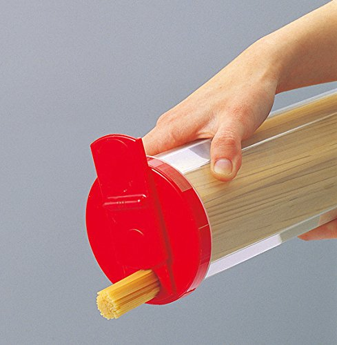 サンコープラスチックパスタケース直径10.4×高30cmレッド
