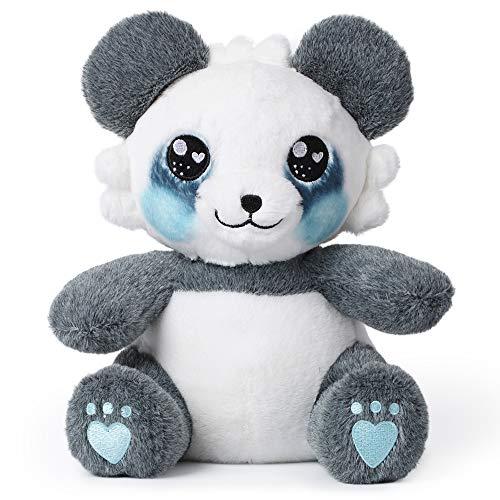 """corimori 1849 - """"MEI"""" der Panda Plüschtier Kuscheltier Stofftier, Kinder Baby Jungen Mädchen, 26cm, Blau Weiß Grau"""