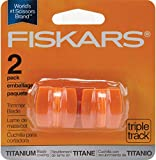 Fiskars 157400-1001 Titanium TripleTrack High Profile Cutting Replacement Blades- 2 Pack