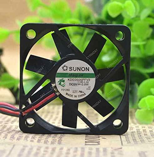 CYRMZAY Ventilador Compatible para SUNON KDE0505PFV2 5V 0.8W 2-Wire 5CM 5010 Cooling Ventilador