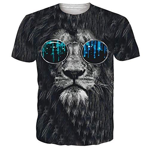 NEWISTAR Unisex Tshirts für Herren Damen 3D Coole Grafik Tee Shirts Beiläufig Party Bunte Fun T-Shirts