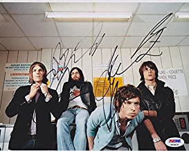 Kings of Leon Complete Band Signed Autograph 8x10 Photo PSA/DNA COA #1