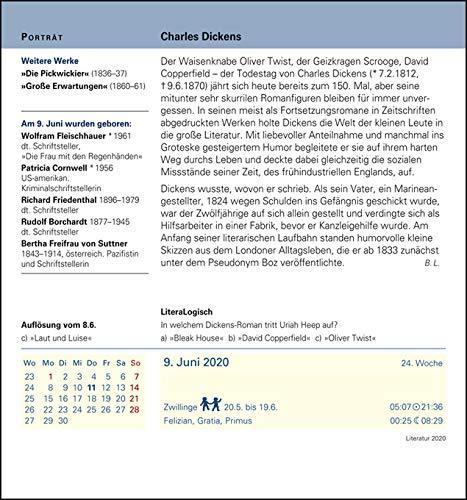 Harenberg Literatur – Kalender 2020 - 5