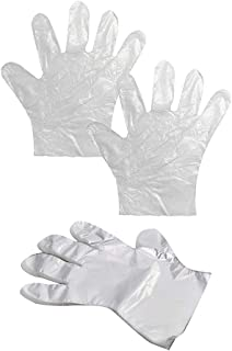 200pcs Multi-Purpose Disposable Gloves Disposable Plastic Gloves Polythene Food Prep Safe for Catering Hairdressers Butchers