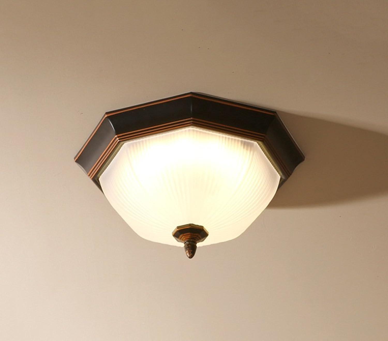 mas barato MOMO Lámpara de de de Techo de luz de Techo de Hierro Estilo Americano, luz de Techo para Sala de Estar, Dormitorio, Estudio, balcón, Pasillo  mas preferencial