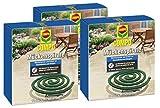 Compo Mückenspirale, Schutz vor Stechmücken und Wespen, 30 Stück inkl. Halterung, Grün